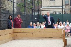 Mark Squilla at East Passyunk Community Recreation Center's Bocce Court Opening