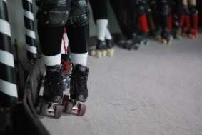 A roller derby event at the Penn Jersey Roller Derby Warehouse in North Philadelphia.