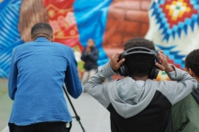 Kids learn the basics of audio and visual production through a free course offered at Smith Playground in South Philadelphia.